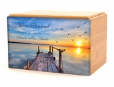 Dock on the Lake Eternal Reflections II Wood Cremation Urn - 5 Urn Choices