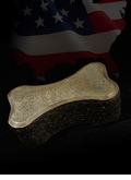 Dog Bone Cast Bronze Pet Cremation Urn