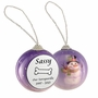 Dog Bone Snowman Memorial Holiday Tree Ornament