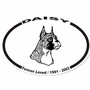 Dog Breed Memorial Sticker
