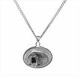 Dog House Sterling Silver Cremation Jewelry Necklace