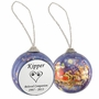 Dog Paw Prints in Heart Santa and Sleigh Memorial Holiday Tree Ornament