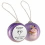 Dog Paw Prints in Heart Snowman Memorial Holiday Tree Ornament