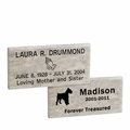 Dolomitic Stone Garden Memorial Markers - Custom Engraved