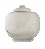Dome Antique White Marble Pet Cremation Urn