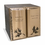 Double Book of Leaves Bronze Companion Cremation Urn