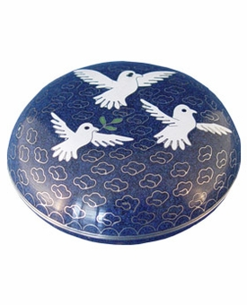 Dove Cloisonne Jewel Dish