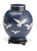 Dove Keepsake Medium Cloisonne Cremation Urn