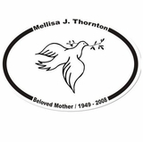 Dove Memorial Sticker