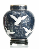 Dove Miniature Cloisonne Cremation Urn