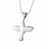 Dove Sterling Silver Cremation Jewelry Pendant Necklace