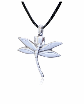Dragonfly Stainless Steel Cremation Jewelry Pendant Necklace