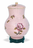 Dusty Rose Cloisonne Cremation Urn