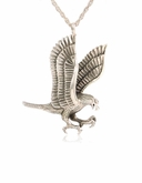Eagle Sterling Silver Cremation Jewelry Pendant Necklace