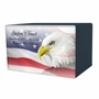 Eagle with Flag Eternal Reflections Wood Cremation Urn - 5 Urn Choices