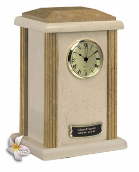 Earth Grain Clock Tower Marble Cremation Urn
