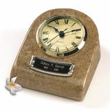 Earth Grain Mini-Clock Marble Keepsake Cremation Urn