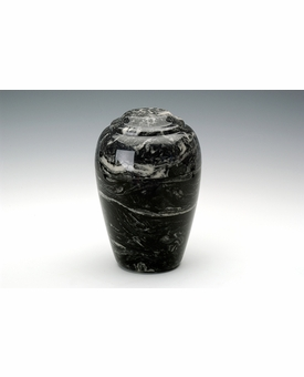 Ebony Grecian Cremation Urn - Engravable