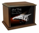 Electric Guitar Eternal Reflections Wood Cremation Urn - 3 Sizes