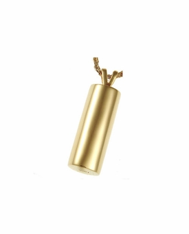 Elegant Cylinder Cremation Jewelry in Solid 14k Yellow Gold or White Gold