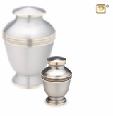 Elegant Pewter Keepsake Cremation Urn