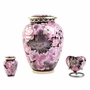 Elite Floral Garden Blush Cloisonne Brass Keepsake Cremation Urn