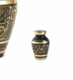 Elite Radiance Brass Keepsake Cremation Urn