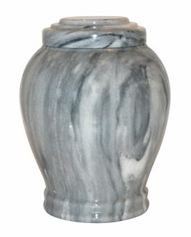 Embrace Cashmere Gray Marble Medium Cremation Urn