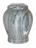 Embrace Cashmere Gray Marble Pet Cremation Urn