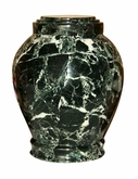 Embrace Green Zebra Marble Cremation Urn
