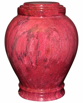 Embrace Red Marble Cremation Urn