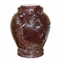 Embrace Red Zebra Marble Cremation Urn