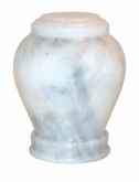 Embrace White Marble Keepsake Cremation Urn