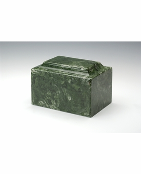 Emerald Classic Cultured Marble Cremation Urn Vault - Engravable