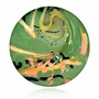 Emerald Cremains Encased in Glass Cremation Healing Stone