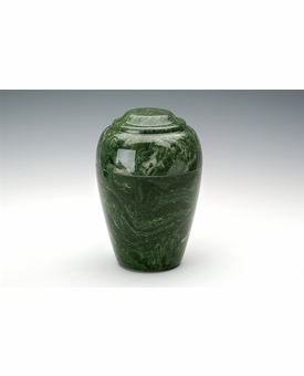 Emerald Grecian Cremation Urn - Engravable