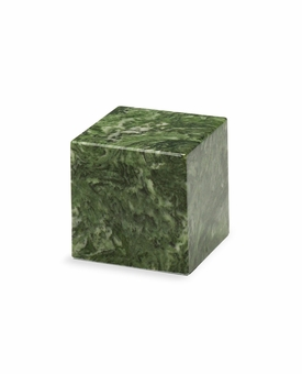 Emerald Small Cube Cremation Urn - Engravable