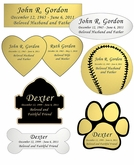 Engraved Nameplate - Choose Style, Color and Size