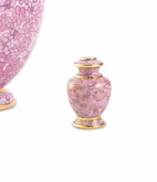 Essence Rose Cloisonne Brass Keepsake Cremation Urn