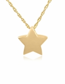 Essential Star Gold Vermeil Cremation Jewelry Pendant Necklace