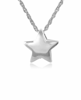 Essential Star Sterling Silver Cremation Jewelry Pendant Necklace