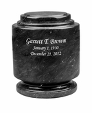 Estate II Black Marble Engravable Cremation Urn