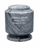 Estate II Gray Marble Engravable Cremation Urn