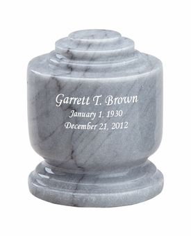 Estate II Memory Gray Marble Engravable Cremation Urn