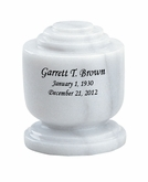 Estate II Memory White Marble Engravable Cremation Urn