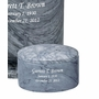 Estate II Petite Gray Marble Engravable Cremation Urn