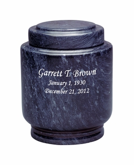 Estate II Youth Black Marble Engravable Cremation Urn