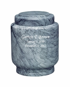 Estate II Youth Gray Marble Engravable Cremation Urn