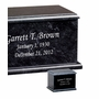 Evermore Memory Rectangular Black Marble Cremation Urn
