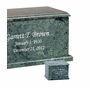 Evermore Memory Rectangular Green Marble Cremation Urn
